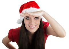 Christmas Girl Scouting - stock photo