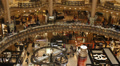 Interior Galeries Lafayette Store Paris People Shopping Center Customers Clients Footage
