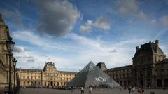 Le louvre museum, paris france 4k Stock Footage