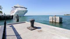 Cruise ship at the Florida Keys Stock Footage