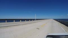 Florida Keys 7 Mile Bridge Stock Footage