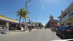 Driving through Key West Stock Footage