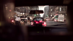 Taxicab in NYC Stock Footage