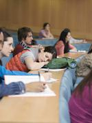 College Students Lecture Room - stock photo