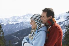 Stock Photo of Happy Loving Couple In Warm Clothing