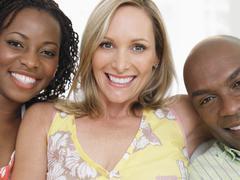 Cheerful Multiethnic Friends - stock photo