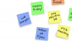 Household Reminder Sticky Notes Stock Footage