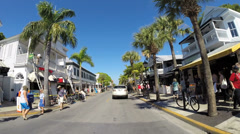 Duval Street Key West Stock Footage