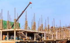 Building construct site Stock Photos