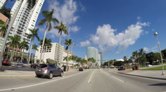 downtown bayside - stock footage