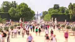 City Pedestrian Traffic Time Lapse Paris - stock footage
