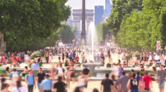 City Pedestrian Traffic Time Lapse Paris Zoom - stock footage