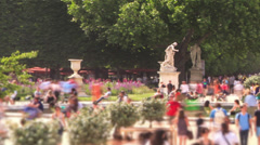 City Pedestrian Traffic Time Lapse Paris Pan - stock footage