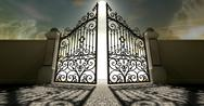 Stock Illustration of heavens open ornate gates