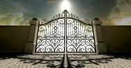 Stock Illustration of heavens closed ornate gates