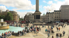 City Pedestrian Traffic Time Lapse London Zoom - stock footage