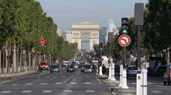 Paris Arc de Triomphe French Architecture Champs-Elysees Place Charles De Gaulle Stock Footage