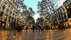 City Pedestrian Traffic Time Lapse Barcelona - stock footage