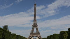 Eiffel Tower Most Recognizable Landmark Paris Champ de Mars Romantic Capital Day Stock Footage