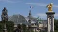 Paris Pont Alexandre III Grand Palais Bronze Statues Fames Alexander III Bridge Footage