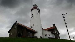 Urk Lighthouse Stock Footage