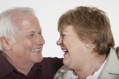 Senior Couple Laughing - stock photo