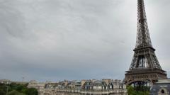 Eiffel tower, paris france 4k Stock Footage