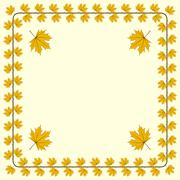 Autumnal frame Stock Illustration