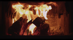 Stove Fire - stock footage