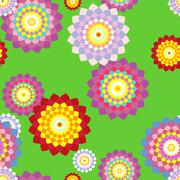 floral seamless background - stock illustration