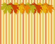 Abstract autumnal wallpaper Stock Illustration