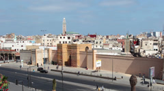United Nations Square in Casablanca, Morocco Stock Footage