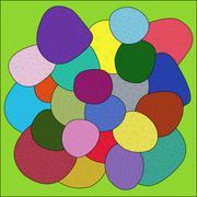 Stock Illustration of color sea pebbles