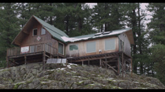 Forest Cabin Stock Footage