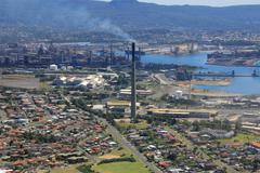 Steel Works Industry Australia - Port Kembla - stock photo