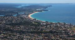 Sydney City Northern Beaches aerial photography Stock Photos