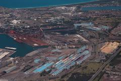 Steel Works Industry Australia - Port Kembla Stock Photos