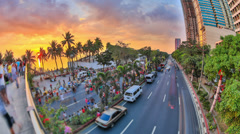 City Pedestrian Traffic Time Lapse Manila HDR Stock Footage