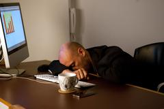 Stock Photo of Tired at Work