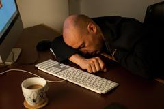 Stock Photo of sleeping on the Job