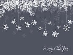 Winter background - stock illustration