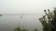 Fog on lake (7).mp4 Stock Footage