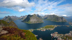 Lofoten island,Norway Stock Footage