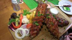 Spareribs Stock Footage