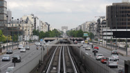 Stock Video Footage of Underground Metro Train Arc Triomphe Triumphal Arch Paris France Car Traffic