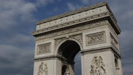 Stock Video Footage of Paris Arc de Triomphe French Architecture Champs-Elysees Place Charles De Gaulle