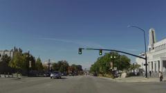 Driving Salt Lake City Utah past Temple Square POV HD 0164 Stock Footage