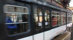 The Schwebebahn floating tram Stock Footage