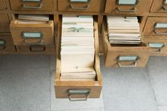 Old archive with drawers Stock Photos
