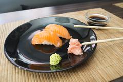 sushi in sushi bar - stock photo